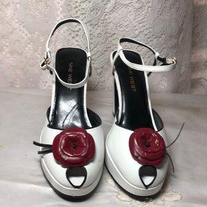 Vintage 9 West Peep Toe Platform Heels